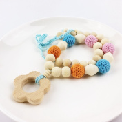 Baby Teether Teething Pendant For Baby and Mom Gift Necklace Wooden Teether Nursing Necklace Baby Teether Toys
