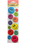 12 Sheets of Multi Colour Smiley Sticker 12 Sticker Per Sheets For Scrapbooking,Arts and Crafts