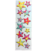 12 Sheets of Multi Colour Star Sticker 12 Sticker Per Sheets For Scrapbooking,Arts and Crafts