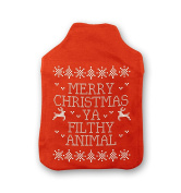 Merry Christmas Ya Filthy Animal Hot Water Bottle Cover