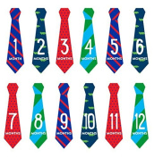 Pearhead First Year Monthly Milestone Necktie Photo Sharing Belly Stickers, Months 1-12 Included by Pearhead