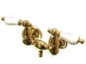 Kingston Brass CC33T2 Vintage Leg Tub Filler, Polished Brass