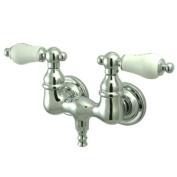 Kingston Brass CC34T1 Vintage Leg Tub Filler, Porcelain Lever Handle, Polished Chrome