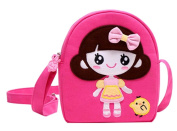 Children Travel Shoulder Bag Cotton Cloth Bag Bag Princess Messenger Bag
