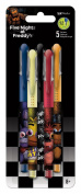 Coloured Gel Pens - Five Nights at Freddy's - 5pk New Toys Gifts Stationery New iw1783