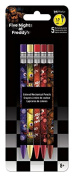 Coloured Mechanical Pencils - Five Nights At Freddy's - 5Pcs New Toys Gifts iw2523