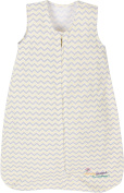 Miracle Blanket Sleeper Wearable Blanket Sack, Yellow Chevron, Large