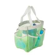 Honey-Can-Do SFT-06305 Quick Dry Shower Tote, 7-Pocket, Green