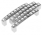 4x Crystal Cabinet Pull Handle Bar Drawer Cabinet Door Handle 96mm