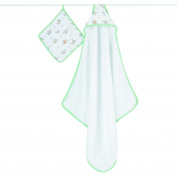 aden + anais Hooded Towel and Washcloth Set - Woodland Pals