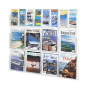 Safco Products 5611CL Reveal Literature Display, 8 Magazine and 8 Pamphlet, Clear