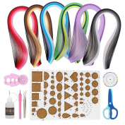 IMISNO Paper Quilling DIY Kits with 30 Colours Quilling Strips Crafting Board Beginners Paper Tool for Quilled Creations