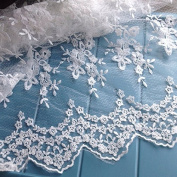 120cm Width 3D Floral Lace Fabric by the Yard