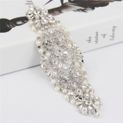 Trlyc 2015 Luxury Rhinestones Beads Ribbon Sash Bridal Belt for Wedding Dress Belt Handmade