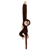 SMTSMT Cute Screech Monkey Plush Toy-Coffee