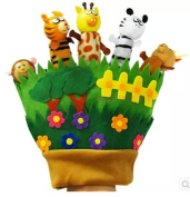 Happy Family Zoo Hand Puppet Gloves , Children's Play Toys and Fingers Aids Children's Educational Toys