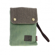 Women Teens Girls Vintage Canvas Denim 2 in 1 Mini Shoulder Bag Crossbody Bags Small Cell Phone Case Holder Wallet Purse Cash Key Coin Pouches Clutch Handbag Green