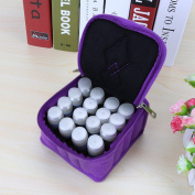 Hotrose 16-Bottle Essential Oil Carrying Case, Purple Oil Cases for Essential Oils - Can Hold 5ml, 10ml, 15ml Oil Bottles, Double Zipper, Portable for Travel Essential Oil Storing Bag
