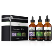 Essential Oils Gift Set - Essentials - Peppermint, Tea Tree and Lavender - Therapeutic Grade 30ml bottles - Premium Select by Essential Oil Labs