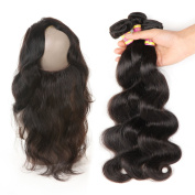 Ariel Hair 360 Frontal With Bundles Body Wave Brazilian Virgin Hair 2 Bundles With Frontal Closure Natural Hairline