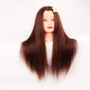 Beauty Youth 70cm Mannequin Manikin Hairdressing Styling Training Head Cosmetology Doll