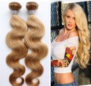 YAMI HAIR Honey Blonde Brazilian Hair Weave Bundles Colour 27# Brazilian Silky Straight Human Hair 7A Grade Brazilian Virgin Hair No Shed