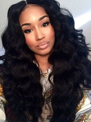 Cici Collection Brazilian Body Wave Hair Glueless High Density Lace Front Wigs Virgin Human Hair Wigs