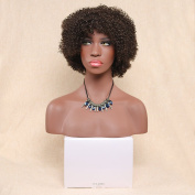 Secretgirl Light Brown Short Curly Hair Classic Synthetic Women Wigs Fluffy Afro Curly Full Wig