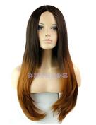 BeautyGrace Syethetic Wig Heat Resistant Straight Hair Wig Colour R2/30# 60cm 260g