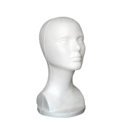 Head Model, Hatop Female Styrofoam Hat Glasses Hair Wig Mannequin Stand Display Head Model Chest