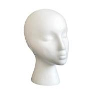 Head Model, Hatop Styrofoam Foam Mannequin Female Head Model Dummy Wig Glasses Hat Display Stand