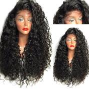Long Side Parting Curly High Temperature Fibre Lace Front Wig