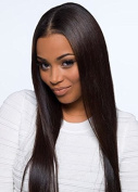 Ms Fenda Straight Lace Front Wigs Brazilian Virgin Remy Human Hair Natural Colour with Baby Hair for Black Women