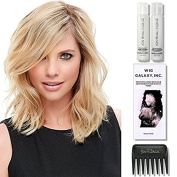 easiPart HH 30cm (#724A) Exclusives (Human Hair) by easiHair, 60ml Travel Size Wig Shampoo & Conditioner, Wig Galaxy Hair Loss Booklet, & Wide Tooth Comb. (Bundle - 5 Items)