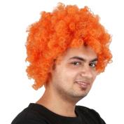 Longlove European Cup fan explosion head festive carnival AFRO round pontoon wig