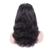 Auspiciouswig Natural Curly Lace Front Human Hair Wigs with Baby Hair Natural Colour Brazilian Hair