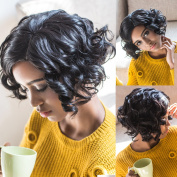 AISI Synthetic Short Curly Wigs Full Wigs for Black Afro American Women