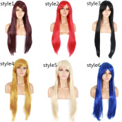 Life Diaries 150% Density Cosplay Natural Straight Synthetic Wigs For Women Heat Resistant Natural Hairline With Baby Hairs