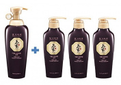 Doori Daeng Gi Meo Ri Ki Gold Premium Shampoo Super Set (Sampoo 500ml, 300ml x3 + Free Gifts) for Hair Loss, Thin Hair, Grey Hair Prevention and Treatment, Medicinal Herbal