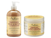 Shea Moisture Jamaican Black Castor Oil Combination Pack – 380ml Strengthen, Grow & Restore Conditioner & 470ml Strengthen, Grow & Restore Leave-In Conditioner
