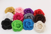 Baby Cute 12pcs Flannelette Rose Girls Hair Clips Flower Hair pins Hair Accessory