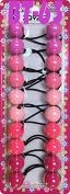 Tara Girls Twinbead Multi Cute Design Ponytail Elastics Selection
