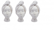 Turbie Twist Cotton Hair Towel (3 Pack)White