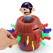 Pop Up Pirate Game, ZhiDa Kids Adults Funny Lucky Stab Pop Up Toy Gadget Pirate Barrel Game