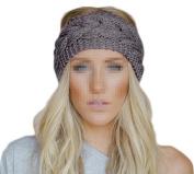 MERSUII™ Twist wave Wool Knitting Knitted Women Lady Girl Hat Headgear Crochet Flora Headband Head Wrap Hair Band Hairband