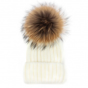 Winter Hat HP95(TM) Women Wool Knit Beanie Beret Ski Pom Pom Cap Winter Warm Hat