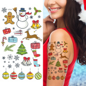 Supperb Temporary Tattoos - Happy Holiday Merry Christmas Temporary Tattoo