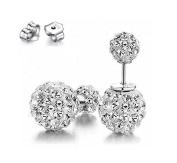 Akak Store Fashion  .   925 Sterling Silver 10mm Double Sided Balls Earrings Shamballa Studs Tribal Earrings