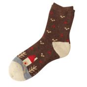 Sunfei Womens Christmas Cashmere Wool Thick Warm Socks Winter Fashion Striped Socks