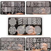 Born Pretty 5Pcs Nail Art Stamp Template Image Plates BPL026-030